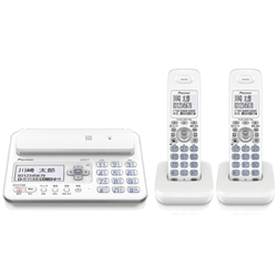 パイオニア デジタルフルコードレス留守番電話機 子機2台 TF-FA70T-W 電話機