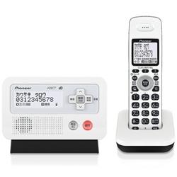 パイオニア TF-FD30S-WK デジタルフルコードレス留守番電話子機1台 ホワイトブラック
