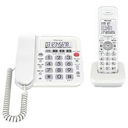 パイオニア TF-SA10S-W デジタルコードレス留守番電話 子機1台 ホワイト TF-SA10S-W