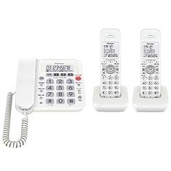 パイオニア TF-SA10W-W デジタルコードレス留守番電話 子機2台 ホワイト TF-SA10W-W