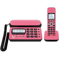 パイオニア TF-SD10S-PK デジタルコードレス留守番電話 ピンクブラック 子機1台タイプ TF-SD10S-PK