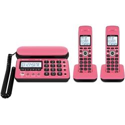 パイオニア TF-SD10W-PK デジタルコードレス留守番電話 ピンクブラック 子機2台タイプ TF-SD10W-PK