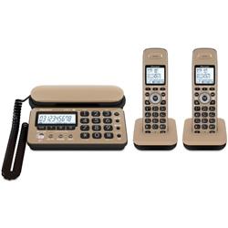 パイオニア TF-SD10W-TK デジタルコードレス留守番電話 キャラメルブラック 子機2台タイプ TF-SD10W-TK