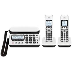 パイオニア TF-SD10W-WK デジタルコードレス留守番電話 ホワイトブラック 子機2台タイプ TF-SD10W-WK