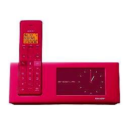ioPLAZA【アイ・オー・データ直販サイト】シャープ JD-4C2CL-P タッチパネル液晶フォトフレーム機能搭載インテリアフォン(子機1台)ピンク系