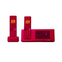 ioPLAZA【アイ・オー・データ直販サイト】シャープ JD-4C2CW-P タッチパネル液晶フォトフレーム機能搭載インテリアフォン(子機2台)ピンク系