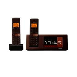 シャープ デジタルコードレス電話機 フォトフレームタイプ 子機2台 JD-4C2CW-T 電話機