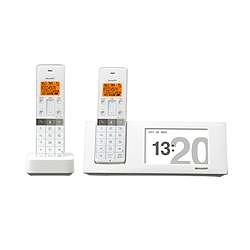 シャープ デジタルコードレス電話機 フォトフレームタイプ 子機2台 JD-4C2CW-W 電話機