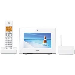 ioPLAZA【アイ・オー・データ直販サイト】シャープ JD-7C2CL-W タッチパネル液晶フォトフレーム機能搭載インテリアフォン(子機1台)ホワイト系