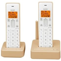 シャープ JD-S06CW-C デジタルコードレス電話機(子機2機)ベージュ系