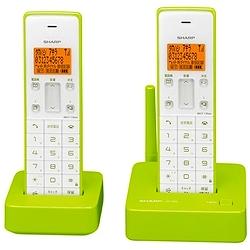 シャープ JD-S06CW-G デジタルコードレス電話機(子機2機)グリーン系