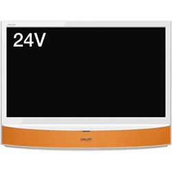 シャープ LC-24MX1-D 24V型地上・BS・110度CSデジタルハイビジョン液晶テレビ MHL・外付HDD対応 オレンジ系