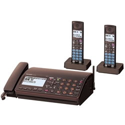 シャープ UX-610CW-T DECT1.9GHz対応デジタルコードレスファクシミリ(子機2台タイプ) ブラウン系