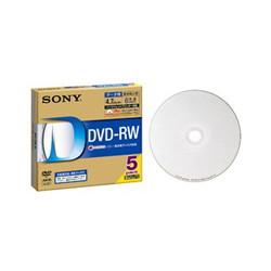 ソニー 5DMW47HPS6 データ用DVD-RWディスク 白色プリンタブル 6倍速対応 5枚パック 5ミリ薄型ケース