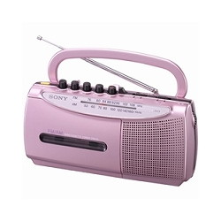 ソニー CFM-E5/P ラジオカセットコーダー E5 ピンク