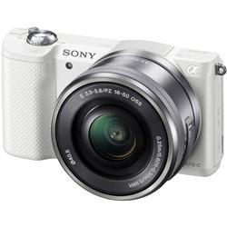ソニー ILCE-5000L/W デジタル一眼カメラ α5000パワーズームレンズキット ホワイト