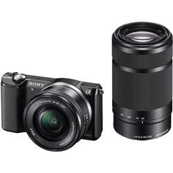 ソニー ILCE-5000Y/B デジタル一眼カメラ α5000ダブルズームレンズキット ブラック