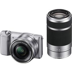 ソニー ILCE-5000Y/S デジタル一眼カメラ α5000ダブルズームレンズキット シルバー