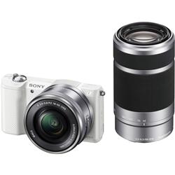ioPLAZA【アイ・オー・データ直販サイト】ソニー ILCE-5000Y/W デジタル一眼カメラ α5000ダブルズームレンズキット ホワイト