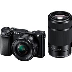 ソニー ILCE-6000Y/B デジタル一眼カメラ α6000 ダブルズームレンズキット ブラック