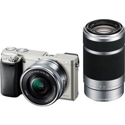 ソニー ILCE-6000Y/S デジタル一眼カメラ α6000 ダブルズームレンズキット シルバー