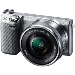 ソニー NEX-5TL/S デジタル一眼カメラ α NEX-5Tパワーズームレンズキット シルバー