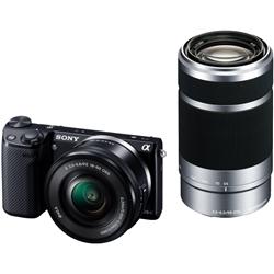 ソニー NEX-5TY/B デジタル一眼カメラ α NEX-5Tダブルズームレンズキット ブラック