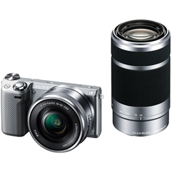 ソニー NEX-5TY/S デジタル一眼カメラ α NEX-5Tダブルズームレンズキット シルバー