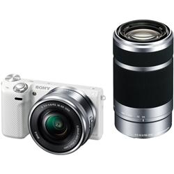 ソニー NEX-5TY/W デジタル一眼カメラ α NEX-5Tダブルズームレンズキット ホワイト