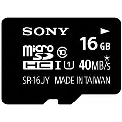 ソニー SR-16UYA microSDHCメモリーカード UHS-I 16GB Class10