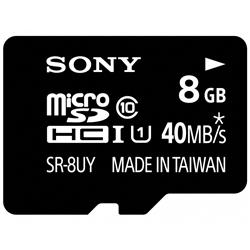 ソニー SR-8UYA microSDHCメモリーカード UHS-I 8GB Class10