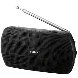ソニー SRF-18/B ステレオポータブルラジオ ブラック