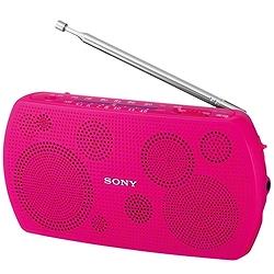 ソニー SRF-18/P ステレオポータブルラジオ ピンク