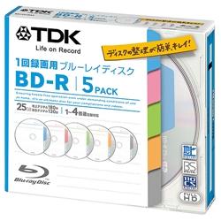 TDK BRV25TB5A 録画用BD-R 1-4倍速 タイトルディスク