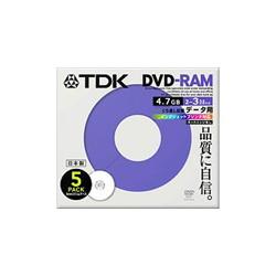 TDK DRAM47PB5S DVD-RAM PC用 3倍速ノンカートリッジ ホワイトプリンタブル5枚パック