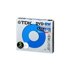 TDK DRW47PA5S DVD-RW PC用 2倍速ホワイトプリンタブル5枚パック