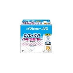 日本ビクター VD-W120VW10 DVD-RWディスク1-2倍速ホワイトプリンタブル10枚パック