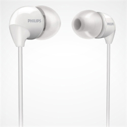 フィリップス SHE3590WT インイヤー カナルタイプ(幅広い音域、快適な装着感)ホワイト