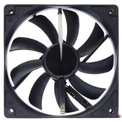 サイズ SY1225LE12L-B LEDバー搭載12cmファン 光る羽根 120