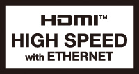 HIGH SPEED with Ethernet認証イーサネット対応HDMIケーブル