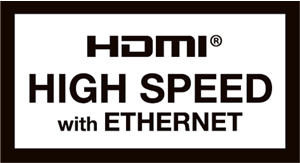 HIGH SPEED with Ethernet認証済HDMIケーブル